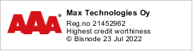 Max Technologies Oy | Y-tunnus 2145296-2 | Highest Credit Worthiness